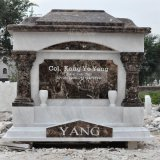 Black Marble Monument Headstone Tombstone (GSME-118)