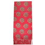Red Colour Flower Design Lady 's Fashion Scarves