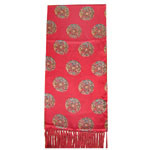 Red Colour Flower Design Lady ′s Fashion Silk Scarf