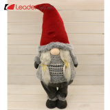 New Nordic Fabric Sitting Santa Gnome Figurine Craft with Red Sewing Hat for Home Decoration and Christmas Gifts, Customize Your Swedish Dolls