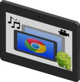 10.1 Inch 10-Point Capacitive Touch Android Tablet PC with Camera and Capacitive Switch