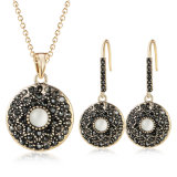 Popular Round New Micro-Inlaid Crystal Zircon Jewelry Set