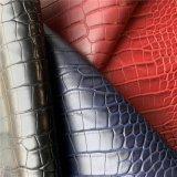 Colorful PVC Leather High-Grade Ladies Handbags Raw Material Crocodile Emboss