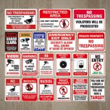 Rust Free Aluminum Safety Sign No Trespassing Surveillance Aluminum Traffic Sign for Warning Safety