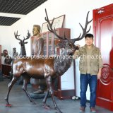 Wholesale Price Life Size Bronze Deer Statue for Garden
