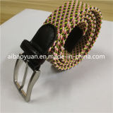 Four Colors Woven Elastic Waisst Belt, Diagonal Imagine Belt