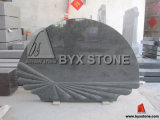 Ireland Style Black Granite Monument with Shell Shape (BYX-MI-OO5)