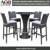 Outdoor Garden Rattan Bar Chair Poolside High Table Cooler Bar Furniture Set