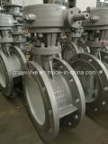 Dn250 Pn16 Cast Steel Bi-Direction Sealing Butterfly Valve (D343H-DN250-16C)