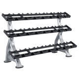 Three Tier Dumbbell Rack/Fitness Cross Fit Commercial Equipment Dumbbell Rack