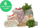Recycle Muslin Net Bags Reusable Grocery Shopping Organic Cotton Mesh Drawstring Bags for Fruits and Vegetables