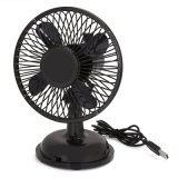 Small Oscillating Fan Mini USB Battery Desk Quiet Fan 2 Speed Modes for Room Office Desktop