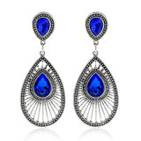 Elegant Fashion Pearl Water Drop Dripping Oval Peacock Earring for Wedding Dress