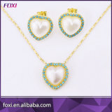 Heart Shape Jewelry Set with Waterfresh Pearl