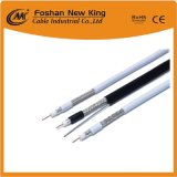 Factory Price Standard-Shield RG6 CATV/CCTV Coaxial Cable with Flooding Compound PVC Black Jacket 305m/Drum