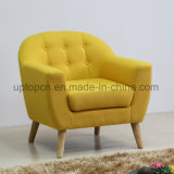 Hotel Armrest Solid Wooden Frame Colorful Fabric Chair (SP-HC601)