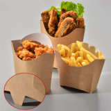 Kraft Paper White French Fries Snack Fried Chicken Box Oblique Mouth Party Cup Takeaway Package Box