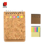 New Convenient Line Paper Recycled Spiral Notebook with Cork Material