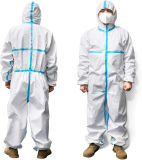 Non-Woven Full Body Disposable Isolation Protective Coverall Clothing Cheap