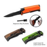 Deluxe Pocket Knife with LED Flashlight (#3342)