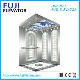 Large Capacity FUJI 0.4m/S Vvvf Sightseeing Glass Passenger Elevator Lift with Good Price