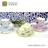 High Quality Porcelain Ceramic Cup Mug From China Factory Coffee Tea Cup Saucer From China
