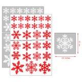 Transparent Custom Removable Christmas Decorations Window Snow Shape Gift Reusable Glass PVC Sticker