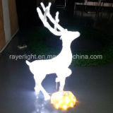 LED Christmas Light Outdoor White Lighted White Reindeer