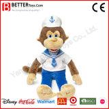 Stuffed Animals Navy Monkey Plush Toy Soft Doll for Kids