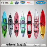 Single Double Sit on Top Wholesale LLDPE Plastic Fishing Kayak