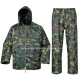 Camouflage Reusable Raincoat with Jacket and Pant