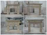The Marble and Granite Fireplace Carving Nature Stone Fireplace
