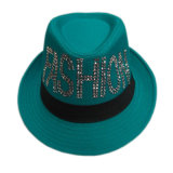 Personalized Fashion Promotional Custom Logo Polyester Fedora Hats for Girl