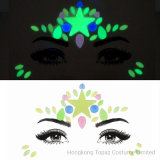 Fluorescent Neon Face Gems Face Jewels Sticker for Music Wedding Party (TP neon series)