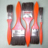 633 Cheap Red End Wooden Painting Handle Black Bristles Brush (812058)