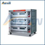 Htr-90q Factory Price up & Bottom Fire Is Controlled Separately 3 Layer-9 Tray Deck Oven for Food Machinery