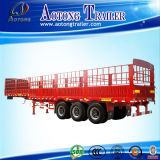 Best Selling Aotong Brand 3 Axles Livestock Fence Semi Trailer