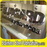 Laser Cuting Welding PVD Color Coated Mirror Stainless Steel Company Sign
