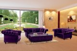 Luxury Purple Velvet Chesterfield Sofa Ms-08