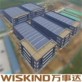 Wiskind Prefabricated Metal Building Steel Construction with SGS ISO