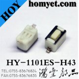 3*6mm SMD Tact Switch with White Color Body (HY-1101ES-H43)
