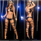 Hollow Hanging Neck Bandage Sexy Underwear Set Lingerie for Woman