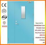 Steel Primary-Secondary Door with Glass Panel