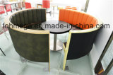 Luxury Semicircle Restaurant Booth and Round Dining Table (FOH-CXSC72)
