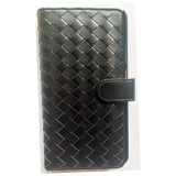 Dongguan Factory Customize Webbing Black Color Genuine Leather Phone Case