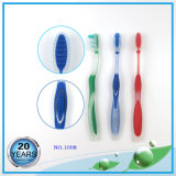 Translucent PP Handle with Tongue Cleaner Toothbrush