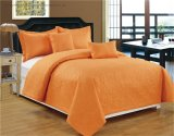 Hot Sale Pinsonic Quilting 3PCS Quilt Set with Solid