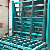 Steel Material Storage Glass Rack with Rubber Mat