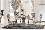 Round Glass Dining Table Set Room Furniture Modern Di ning Table Set