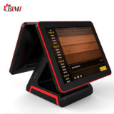 New POS Terminal Inter J1900 POS Machine with 15 Inch Dual Screen for Restaurants, Bars, Pizza, Retail, Grocery, Salons